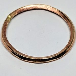 Handcrafted Thin Bronze Hammered Ring Size 13